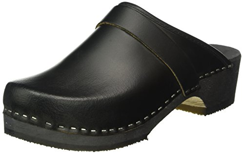 Preisvergleich Produktbild Edco Schweden Clogs aus Echtem Leder Farbe Schwarz,  SchuhgröÃÿe:42