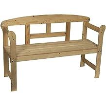 spetebo banco de madera para jardn
