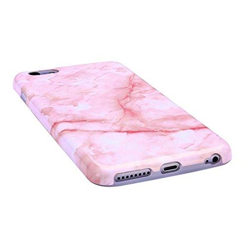 Cover iPhone 6/6S Plus marmo nero silicone Guscio morbido DECHYI TPU silicone e IMD disegno marmo Custodia serie -Nebulosa nera polvere