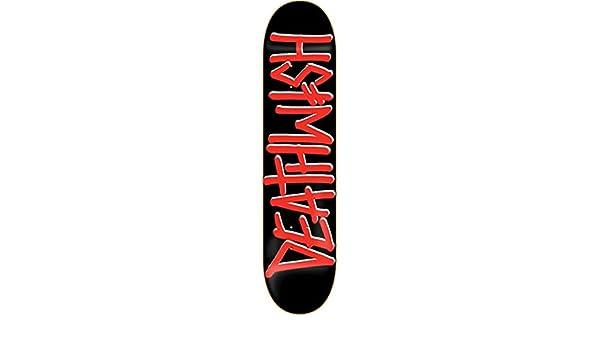 Deathwish Deathspray 8.25 Black//Red Skateboard Deck
