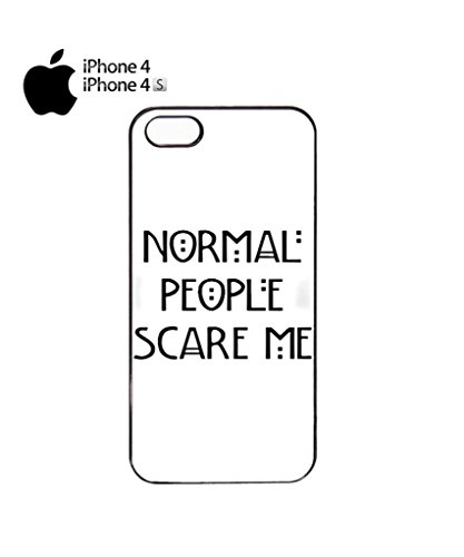Normal People Scare Me Funny Hipster Swag Mobile Phone Case Back Cover Hülle Weiß Schwarz iPhone 5&5s White Schwarz