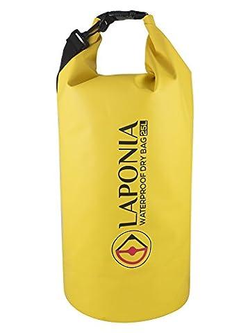 LAPONIA Waterproof Dry Bag Wasserdichter Seesack Packsack 25L Herren, Damen und Kinder Optimal zum Schwimmen, Tauchen, Kajak und Kanu fahren