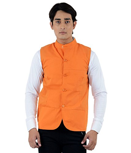 American-Elm-Mens-Orange-Modi-Jacket-XL