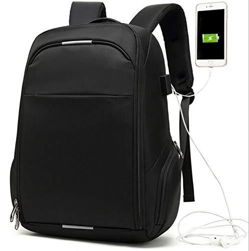 Herren Business Rucksack Junior High School Schultasche Freizeit Reisen Computer Tasche Reise Laptop Rucksack Laptops Rucksack mit USB-Ladeanschluss (Black)