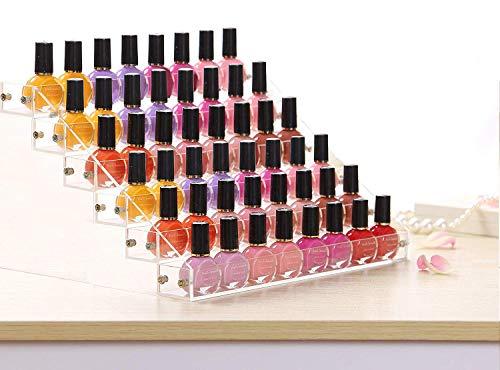 Organisateur de vernis à ongles (6 niveaux) - vernis à ongles afficher - Le support cosmétique peut contenir jusqu'à 36 bouteilles - vernis à ongles en acrylique transparent support de rangement