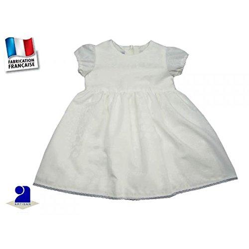 Poussin bleu - Robe blanc cassé 18 mois, motifs jacquard Taille - 81 cm 18 mois, Couleur - Blanc