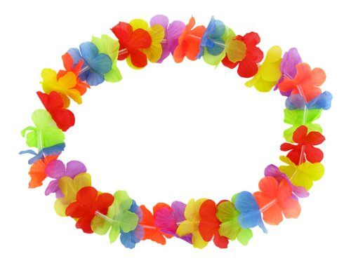 Hawaii-Ketten HULA FLOWER rainbow - 12er Set (Hawaii Hula Kostüm)