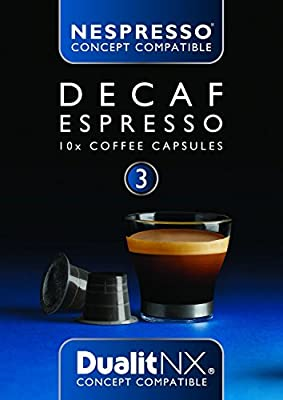 6 x Dualit NX Decaf Espresso Nespresso Compatible Light Coffee Pod Capsules x 10 (60 Total)