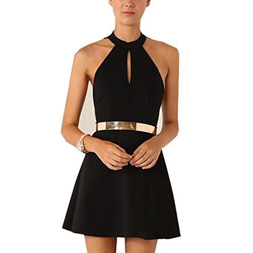 6564d4a4ca0a Zum Shop · Tomayth Damen Sommerkleid Spitze Kleid Ärmellos Rückenfrei  Cocktailkleid Festlich Partykleid A-Linie Sling Mini Kleider