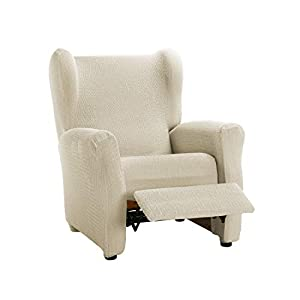 Martina Home Tunez Model Elastic Armchair Cover Recliner Cover 32x42x8 cm ivory white