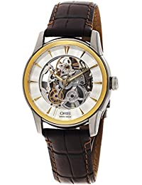 Oris Artelier Skeleton Automatic Steel & Gold Tone Mens Strap Watch 734-7670-4351-LS