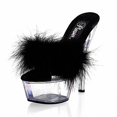 RTRY Donna Pantofole &Amp; Flip-Flops Ciabatte Pvc Summer Party &Amp; Sera Crystal Stiletto Heel Ruby Bianco Nero 5In &Amp; Oltre US11 / EU43 / UK9 / CN44