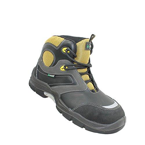 Artelli chaussures de sécurité napoli s3 sRC berufsschuhe businessschuhe chaussures de trekking (noir) - Noir - Noir, 39