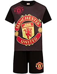 f47f9aac6 Manchester United FC Official Football Gift Boys Short Pyjamas Red