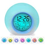 Best Alarm Clocks For Kids - Kids Clocks, HAMSWAN Digital Alarm Clock 7 Colors Review