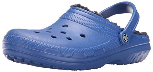 crocs Unisex-Erwachsene Classic Lined Clogs, Blau (Cerulean Blue/Navy 4BJ), 48/49 EU (Croc-klappe)