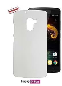 Unistuff™ Matte Finish Hard Case Back Cover for Lenovo K4 Note(White)