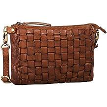 d2ee38e295958 STILORD  Jana  Leder-Handtasche Damen Vintage klein Umhängetasche Clutch  Elegante Abendtasche Ausgehtasche Partytasche