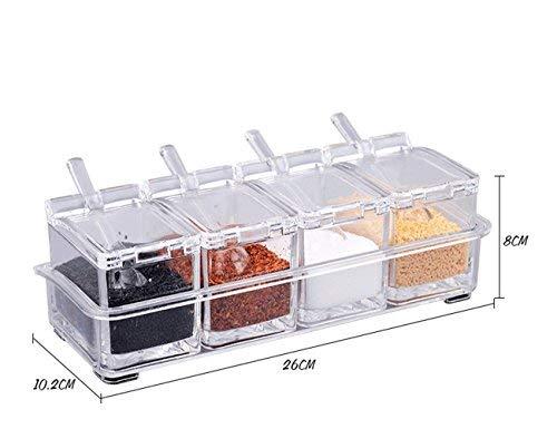 Alicemall Organizador Cocina Juego de 4pcs Caja de Condimento Especieros...