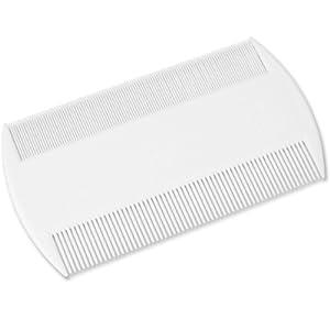 kingwin Doppelseitiger Kopf feine Zahnung Läusekamm 1St Läuse integrierter Flöhe Kamm–Weiß