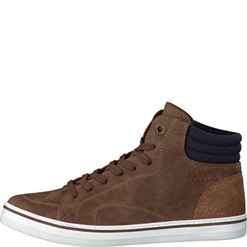 s.Oliver Damenschuhe 5-5-25208-27 Damen Sneaker, Schnürboots, Boots, Stiefeletten Cognac