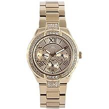 Guess W0111L2 - Reloj de pulsera para mujer, color blanco / plata