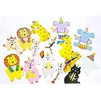 Animales Bloomgreen Co. poner banderas Banderas Kinder aula banderas de papel de dibujos animados