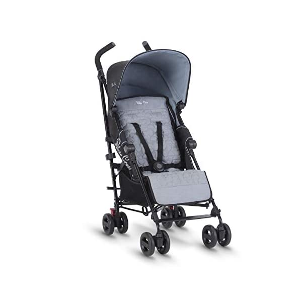 Silver Cross Zest Powder Blue Silver Cross Ultra lightweight zest pushchair, weighing in at only 5.8kg, is suitable from birth up to 25kg It has a convenient one-hand fold, while the compact design makes it easy to store The fully lie-flat recline is best in its class 3
