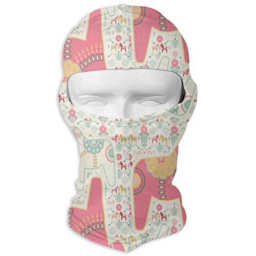 Pizeok Windproof Balaclava, Coussin Dala Horse Art Painting Cover Face Mask for Hunting Skiing Design19 8 Gore-cover