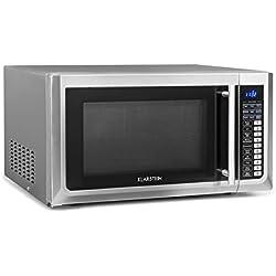 Klarstein Brilliance Pro • Micro-ondes 1000W • Fonction grill 1250W • Chaleur tournante 2150W • Volume 43L • 9 programmes • Écran tactile • env. 20kg • assiette, plaque de cuisson, rouleau • Argent