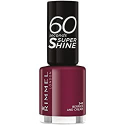 Rimmel London uñas maquillaje de 60 segundos de Super Nail Polish Shine no. 340 Bayas Y Crema 8ml