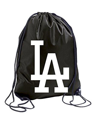 "TRVPPY Turnbeutel Modell ""LA LOS ANGELES"" / Farbe Schwarz / Beutel Rucksack Jutebeutel Sportbeutel Fashion Hipster"