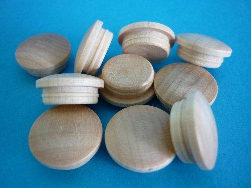 1 Packung Holzabdeckkappen 6025 Ahorn europäisch 25 mm (Holz Ahorn Holz)