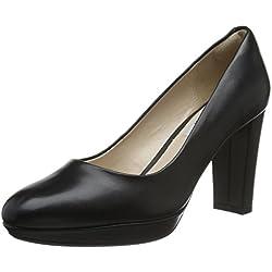 Clarks Damen Kendra Sienna Pumps, Schwarz (Black Leather), 40 EU