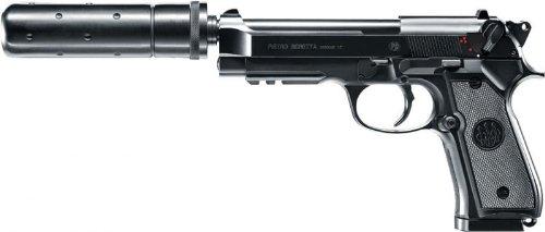 Beretta M92 A1 Tactical Metallschlitten elektrik AEG Softair 0,5 J 6 mm BB Federdruck Metallslide + Hochwertige polierte G8DS® Softairkugeln 1000 Stk 0,20 g