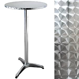 table de bar ronde mange debout aluminium. Black Bedroom Furniture Sets. Home Design Ideas