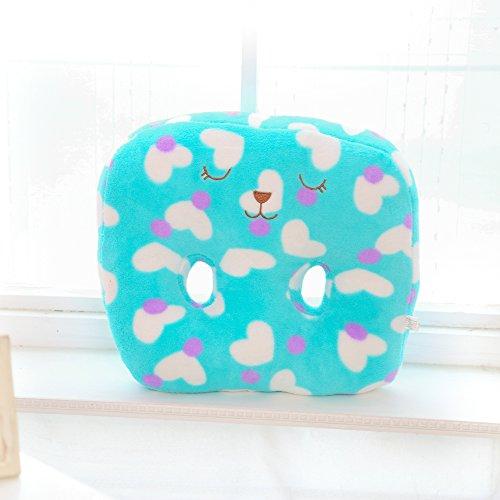 VERCART Spielzeugkissen Seitenschläferkissen Stillkissen Lagerungskissen Plüschtiere Plüschkissen Kopfkissen Bettkissen Scheiße-Kopfkissen Blau 30x40cm - Valentines Riesen Teddy Bär