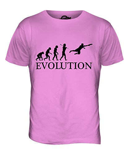 CandyMix Ultimate Frisbee Evolution Des Menschen Herren T Shirt Rosa