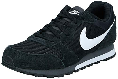 Nike MD Runner 2, Zapatillas de Running Hombre, Negro Black/White-Anthracite, 43