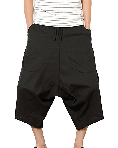 5e2631f785 Pantalones Anchos Hombre Pantalones Cortos Bermudas Pantalones Hippies  Transpirable Pantalones De Lino