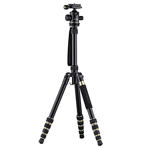 HUTACT Portable Tripod for Camera, Monopod Kit & Ball Head Compact for Canon Sony, Nikon, Samsung, Panasonic, Olympus, Kodak, Fuji, Cameras and Video