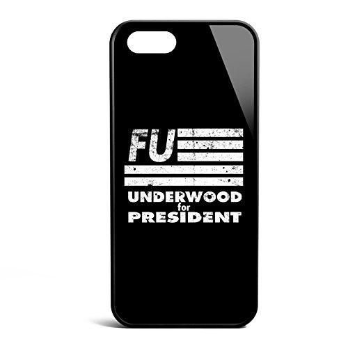 Smartcover Case Underwood for President FU vintage z.B. für Iphone 5 / 5S, Iphone 6 / 6S, Samsung S6 und S6 EDGE mit griffigem Gummirand und coolem Print, Smartphone Hülle:Samsung S6 EDGE weiss Iphone 5 / 5S schwarz