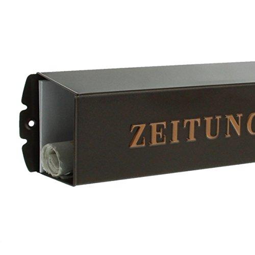 BURG-WÄCHTER, Zeitungsbox mit geprägeter Schrift, Metall, 808 K, Kupfermetallic - 4