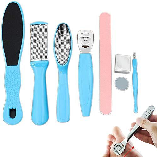 Klinkamz Professionelles Pediküre-Set für Peeling, verhindert abgestorbene Haut, Maniküre, Fußpflege-Set