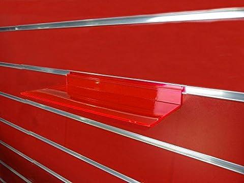 10x New Slatwall Slatboard Display Regal/Einlegeböden mehrere Größe und Packungen: Schuh, Taschen rot