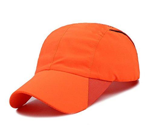 Mme Casquette De Baseball Chapeau été Mâle Casquette De Pare-soleil Extérieur Imperméable Respirant à Séchage Rapide Orange