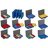 koffer voor kleine onderdelen, plaatstaal, EuroPlus metaal 44/23x63, blauw, 23 inzetstukken, dicht sluitend
