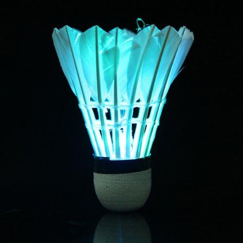 Dark Night Colorful LED Lighting Sport Feather Birdies Badminton Badminton Feather Birdie