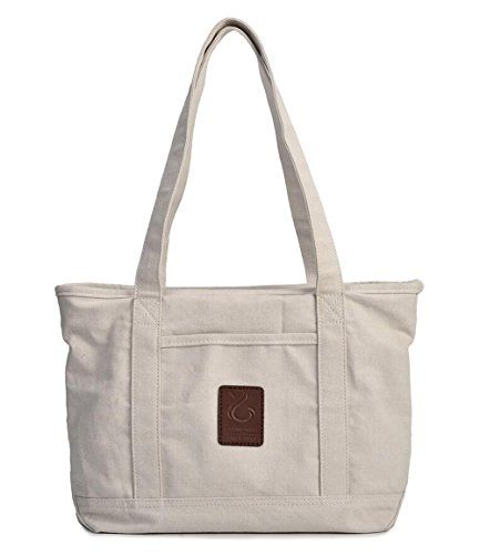 Casual Hobo Handtasche Canvas Business Leichte College Beige Tote Bag (Billig Canvas Tote Taschen)