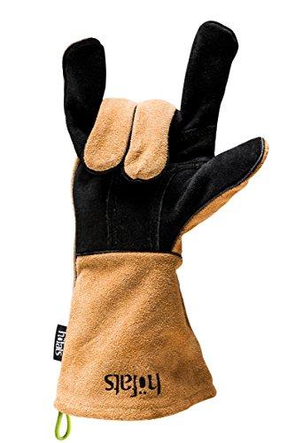 höfats - Grillhandschuhe aus 100% Naturleder | Perfekter Tragekomfort | hitzebeständig| Kevlarfaden | Lederhandschuh | Backhandschuhe | Ofenhandschuhe
